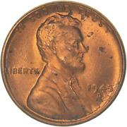 1945 D Lincoln Wheat Cent Uncirculated Penny Us Coin
