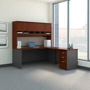 Bush Furniture Series C 72w L Shaped Desk With Hutch And Mobile File Cabinet