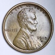 1912-s Lincoln Wheat Cent Penny Choice Unc Uncirculated Ms Free P/h E130 Jcwr