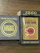 Zippo Lucky Strike Gold Lucky Strike Vintage 1995 Limited Edition Solid Brass