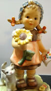 Hummel Figurine Just For You 2309/a Card 4 Mom Girl Cat Flower Mint No Box