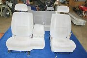 04-06 Nissan Titan Both Front Seats And Rear Seat W/ Console Gray Nice Clean 60/40