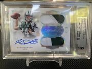 Flawless Sam Darnoldandnbsprc 🔥 Rpa Jersey Number 1/20 Dual Patch Auto Bgs 9
