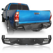 Rear Step Bumper W/license Plate Andled Lights For Toyota Tacoma 2005-2015 2nd Gen