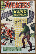 Marvel 1964 Avengers 8 1st Appearance Kang The Conqueror Mid-grade Silver Age