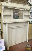 Mantel With Mirrored Overmantel 1890 Ranch Salvage 60 X 80