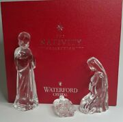 Waterford Crystal 3 Piece Set Holy Family Nativity Collection