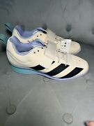 Menand039s Adidas Adipower Weightlifting 2 Shoes Wonder White Violet Gz0176 Size 9.5