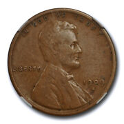 1909 S Vdb 1c Lincoln Wheat Cent Ngc F 15 Fine To Very Fine Key Date Original...