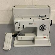 Pfaff 1222 Electronic Sewing Machine W/ Case Foot Pedal Power Cord Tested