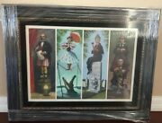 Disney Haunted Mansion Stretching Portraits Giclee On Canvas Framed New
