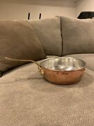 Ruffoni Hammered Copper 4 Qt. Saute Pan W/ Tin And Acorn Handle Made In Italy New