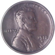 1912 S Lincoln Wheat Cent Very Fine Penny Vf See Pics L007