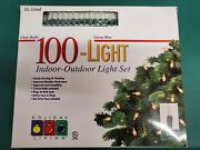 Holiday Living 100clear White Christmas Lights String Indooroutdoor Green Cord