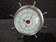 Airguide Ships Wheel Clock - Tested And Works
