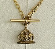 Antique Fob W Handmade Pocket Watch Chain Necklace 17 Gold Fill/ Gold Tone