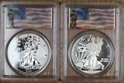 2013-w West Point Eagle 2-coin Set Ngc First Strike Pr70/ms70 Enhanced/reverse