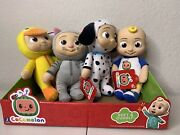 Cocomelon Plush Toy Bundle Lot Of 4 - Jj Doll, Duckie, Puppy And Kitty Set