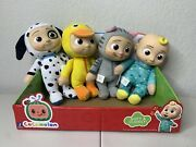 Cocomelon Plush Toy Bundle Lot Of 4 - Jj Doll, Duckie, Kitty, And Puppy Set