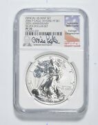 Pf70 2006-p American Silver Eagle - Rev Pf - Mike Castle - Signed - Ngc 3323