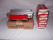 American Flyer 20193 With 21813 Mstl And Red Stripe Passenger Train Set Lot N-86