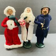 Lot Of 3 Byer's Choice Ltd The Carolers Figurines For Christmas