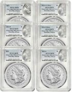 2021 Morgan And Peace Dollar Set Ms70 Pcgs First Day Of Issue