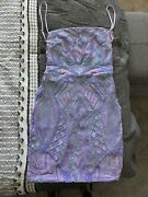 Lucy In The Sky Dress Size Small Purple Starstruck Iridescent