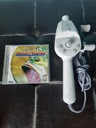 Sega Dreamcast Fishing Rod Controller With Bass Fishing Game