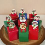 Lot 9 Jc Penney Disney Mickey Mouse Miniature Snow Globes 2002 3 5 6 11 Boxes