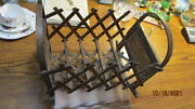 Antique Wooden Accordian Doll Bed 14 By 9 C. A. Fenner
