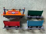 American Flyer 5300t Miners Work Train Tipple Set 740a Handcar Red Blue Green
