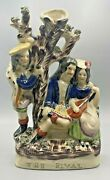 """Staffordshire Figural Spill Vase Titled """"the Rival"""""""