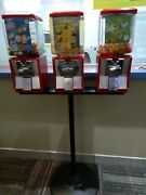 13 Northwestern And Aanda Global Gumball Candy Machines On 5 Pipe Stands