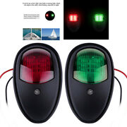 4pcs Marine Boat Yacht Stern Anchor Led Navigation Light Red And Green Lamp Black