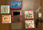 Ninetendo 3ds Xl - Red - 4 Games/ Case Included/ Screen Protector/ Chargers - Us