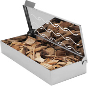 Universal Stainless Steel Wood Chip Bbq Smoker Box For Charcoal And Gas Grill