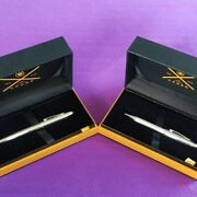 Cross Century Sterling Silver Set Of Fountain Pen And Ballpoint