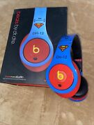 Beats By Dr Dre Monster Superman Studio 1.0 Headphones Noise Cancelling Blue/red