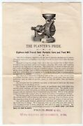Richmond City Mill Works Cob Crusher Antique Farm Inventions Graphic Advertising