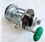 Vintage Tri Color Penn Squidder Red Brown Green Fishing Reel Small 140 30-200