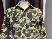 Vintage Sunshine Mountain Products Duck Camouflage Men Camo Long Sleeve Shirt