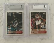 1996 Topps Ray Allen And Steve Nash Rc Bgs 9 And 8 Mint Hof
