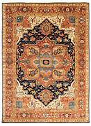 Vintage Geometric Hand-knotted Carpet 10and0390 X 13and0399 Traditional Wool Area Rug