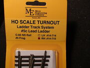 Micro- Engineering 14-715 Ho Ladder Track System Turnout Rh 5c Code 83