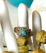Bague Ancienne 1830 Turquoise Or 18k Argent Antique Georgian Silver Gold Ring