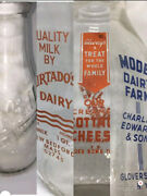 Milk Bottle Lot Of 4 Collectable Super Clean Intant Collection Really Must See