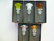 5 Rosenthal Versace Bottle Stoppers Gold Silver Amber White Yellow Brand New