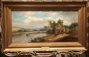 Oil Painting Signed Old Fine Master Painter 19th Century British School Ggf