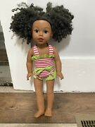 """Madame Alexander 2009 My Life African American 19"""" Doll W/bathing Suit"""